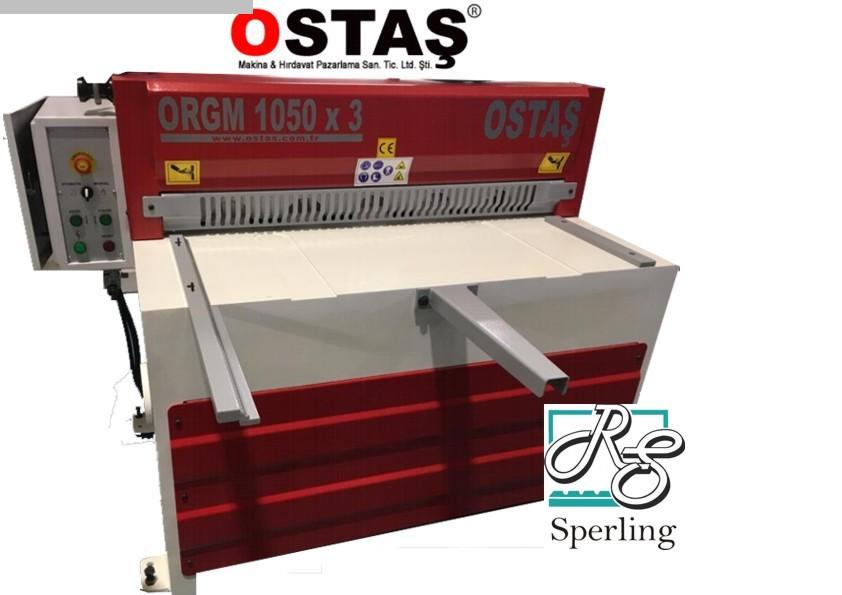 gebrauchte Blechbearbeitung / Scheren / Biegen / Richten Tafelschere - mechanisch OSTAS ORGM 1350 x 3