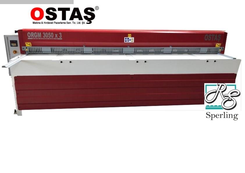 gebrauchte Blechbearbeitung / Scheren / Biegen / Richten Tafelschere - mechanisch OSTAS ORGM 3050 x 3