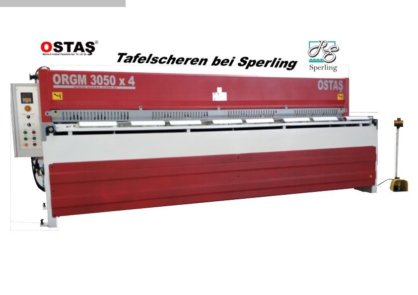 gebrauchte Blechbearbeitung / Scheren / Biegen / Richten Tafelschere - mechanisch OSTAS ORGM 3050 x 4