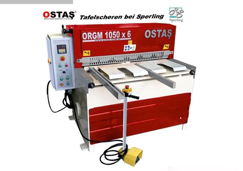 gebrauchte Blechbearbeitung / Scheren / Biegen / Richten Tafelschere - mechanisch OSTAS ORGM 1550 x 6