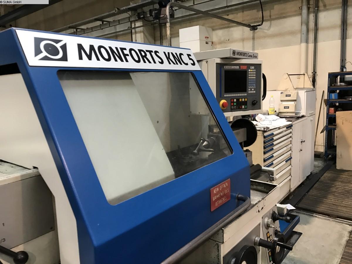 gebrauchte Drehmaschine - zyklengesteuert MONFORTS KNC 5