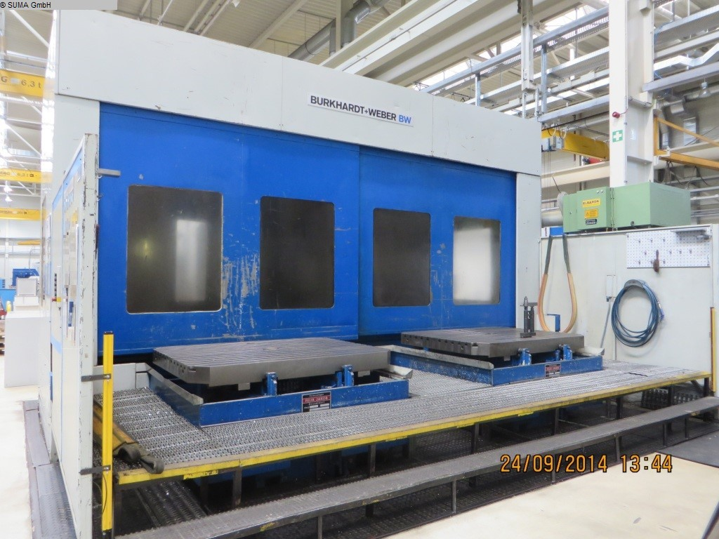 used milling machining centers - horizontal BURKARDT + WEBER MC 120