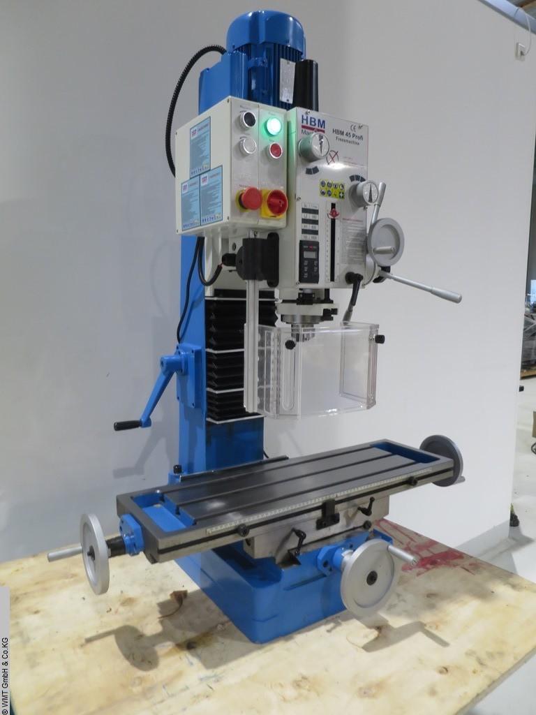 gebrauchte Bohr- und Fräsmaschine HBM 45 Profi