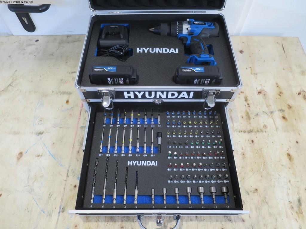 gebrauchte Werkstatteinrichtung / Betriebsausstattung Handwerkzeuge HYUNDAI Accu Bohrset 20V