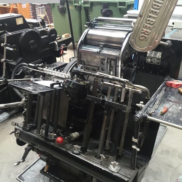 gebrauchte Druckereimaschinen Buchdruckmaschinen HEIDELBERG OHT