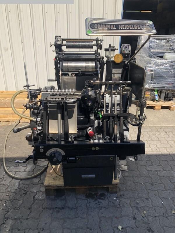 gebrauchte Druckereimaschinen Buchdruckmaschinen HEIDELBERG OHT-P