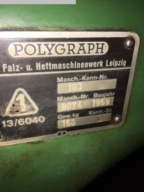 gebrauchte Weiterverarbeitung Drahtheftmaschine POLYGRAPH 103