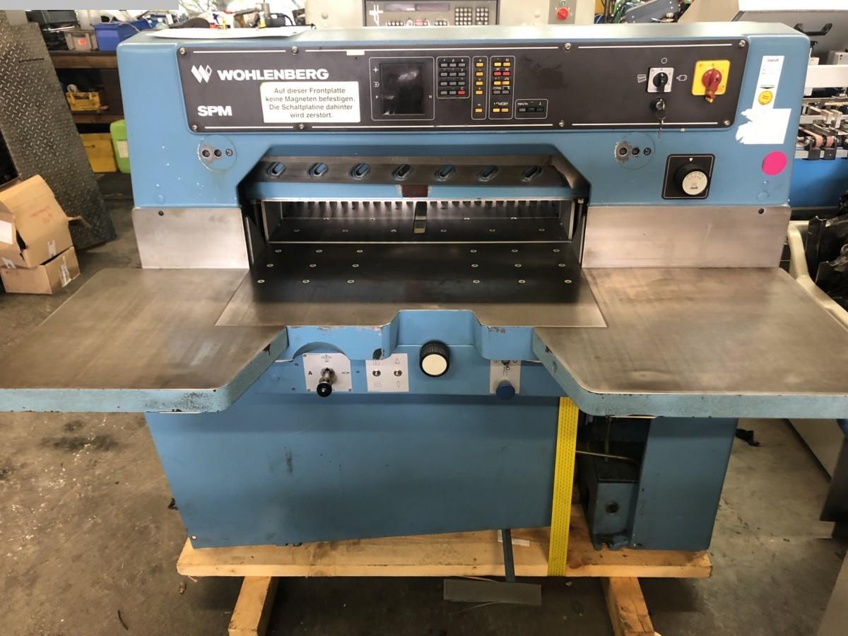 used postpress cutting machine WOHLENBERG SPM 76