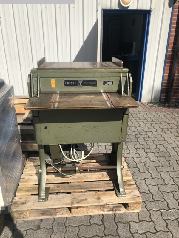 used postpress grooving abd perofrating machine BICKEL H.K. 3-68