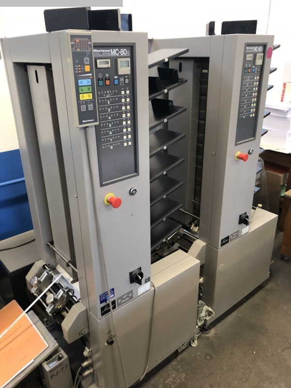 used postpress collating systems HORIZON MC-80a + MC-80c