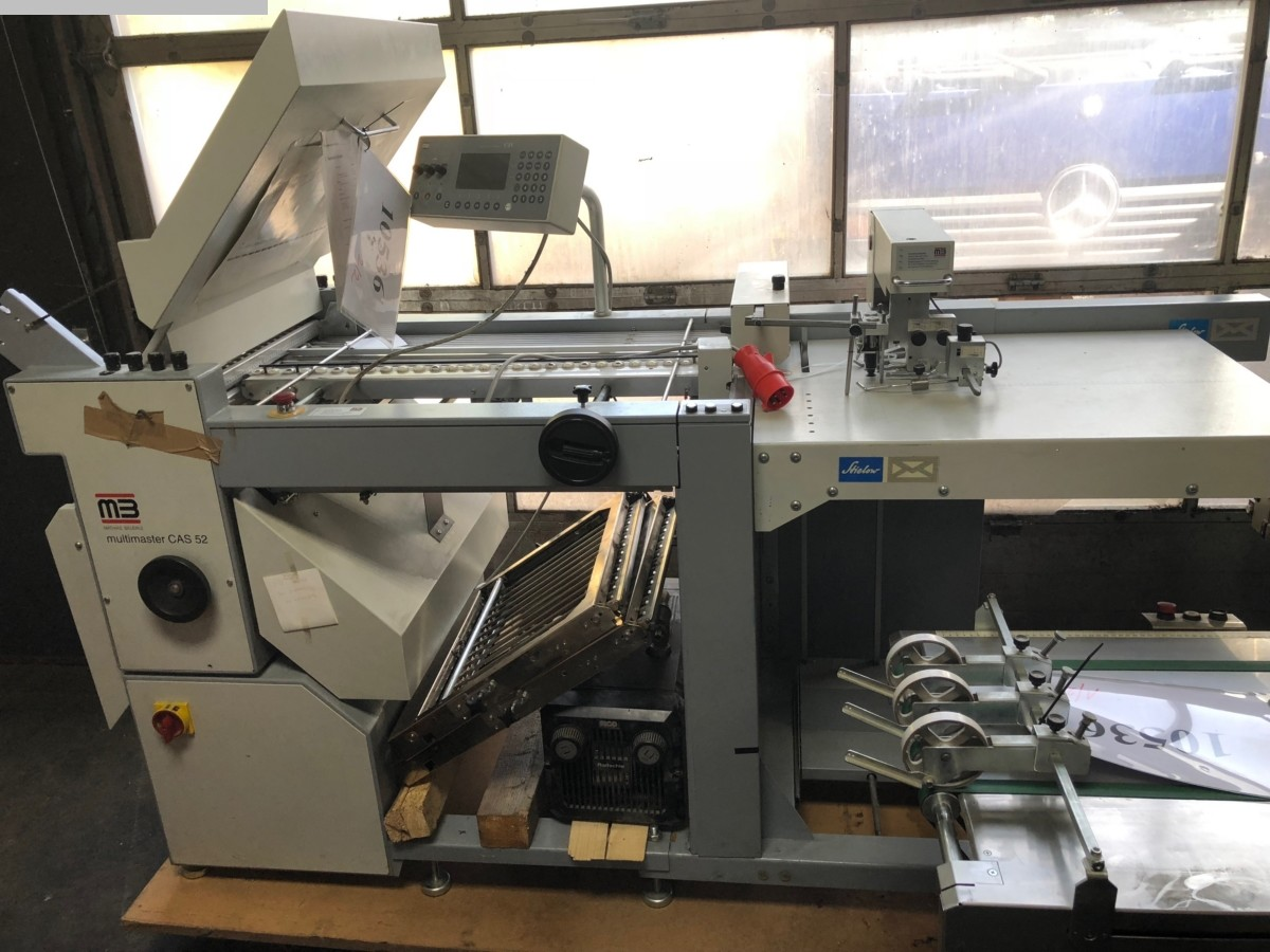 used postpress folding machines MB Multimaster CAS 52