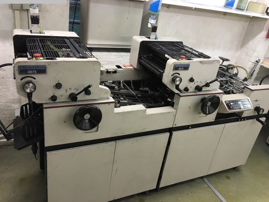 used printing equipment 2 colour / units AM INTERNATIONAL 3875