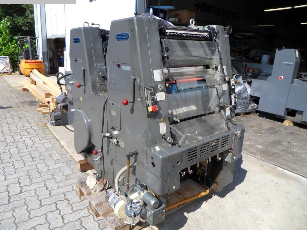 used printing equipment 2 colour / units HEIDELBERG GTOZP 46