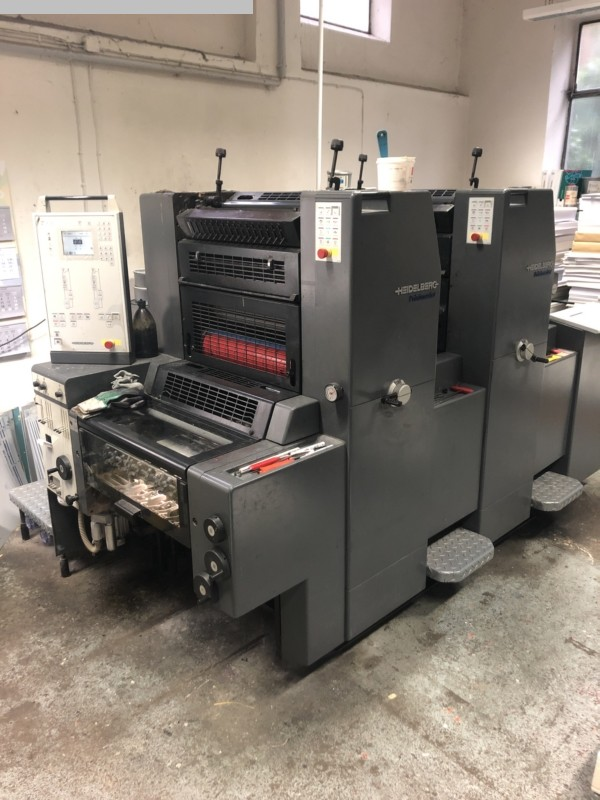 used printing equipment 2 colour / units HEIDELBERG PM 52-2 + Version