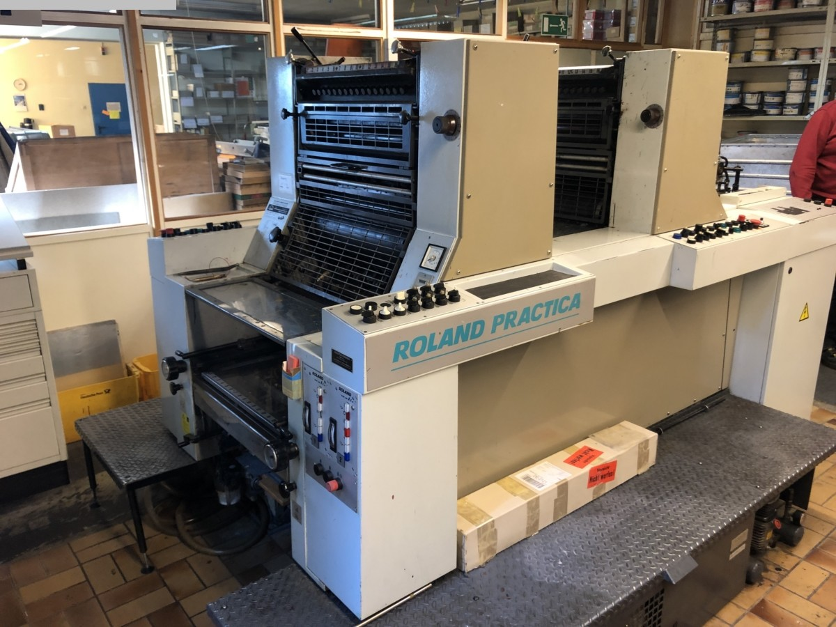 used printing equipment 2 colour / units MAN ROLAND PRZ 00 2/0 - 1/1 E