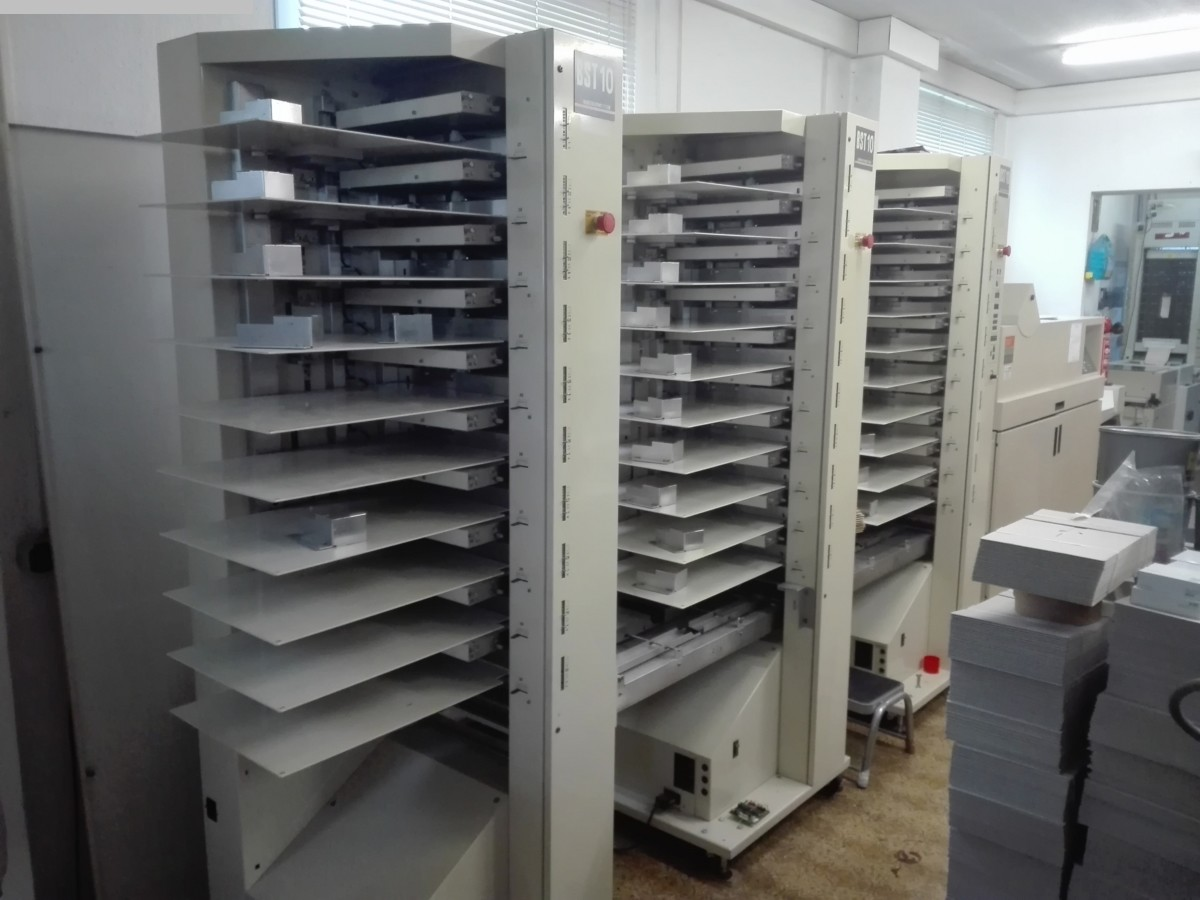 used printing equipment collating systems BOURG BST 10 + BDF