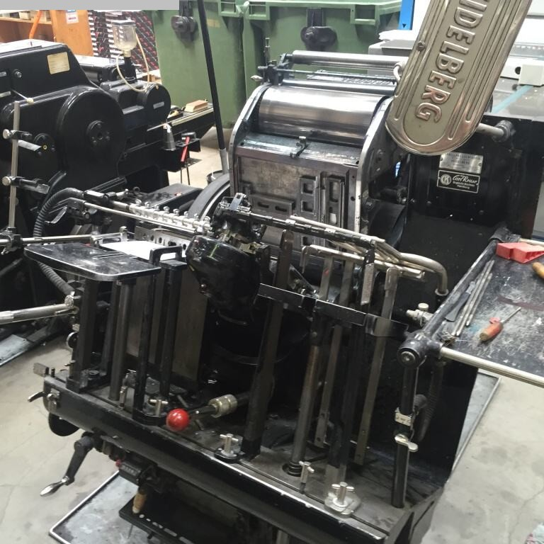 used printing equipment letter presses HEIDELBERG OHT