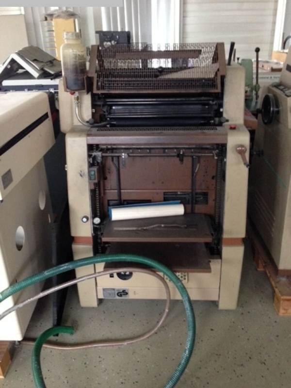 used sheetfeed offset 1 colour / units ROTAPRINT R37K