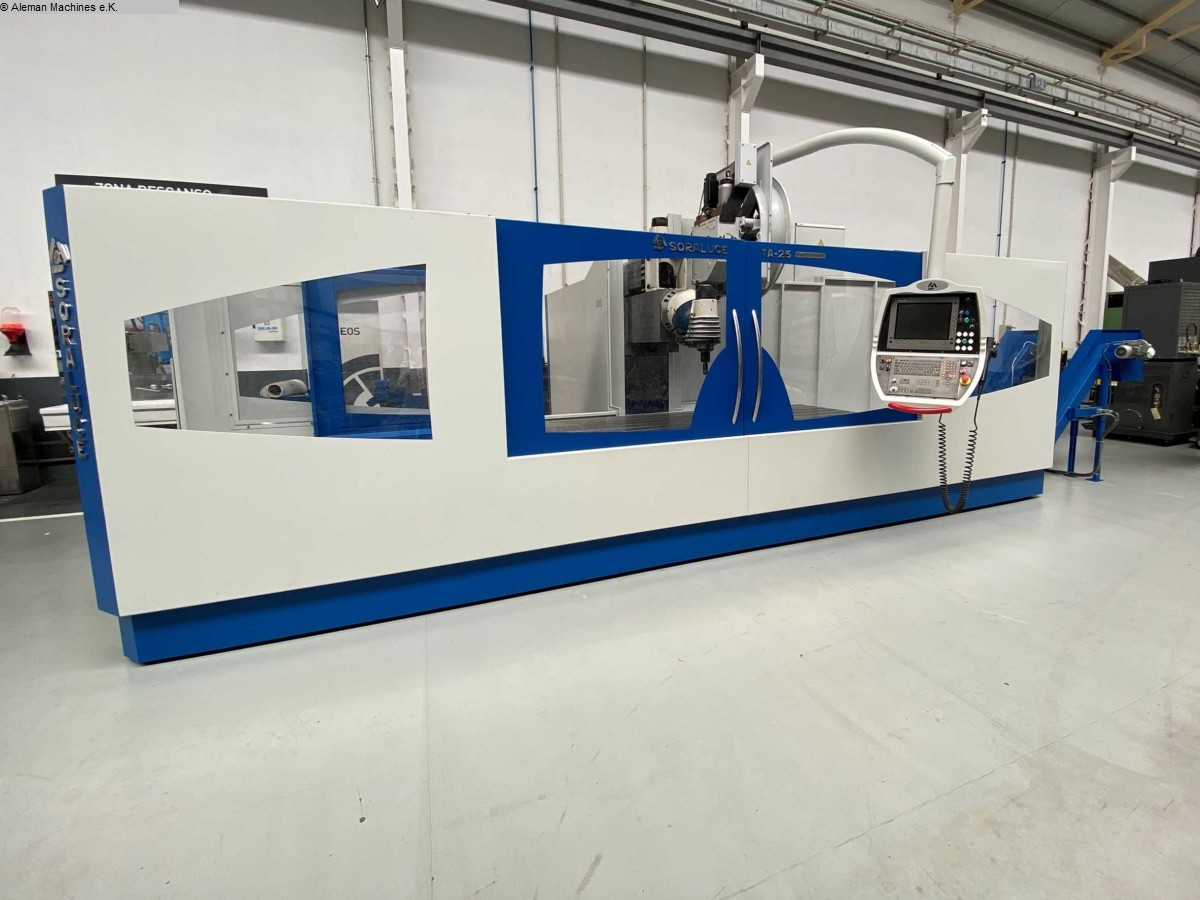 used  Bed Type Milling Machine - Universal SORALUCE TA 25 A