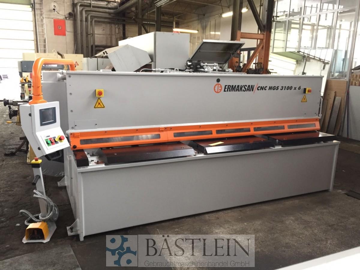 gebrauchte Blechbearbeitung / Scheren / Biegen / Richten Tafelschere - hydraulisch ERMAK CNC HGS 3100x6