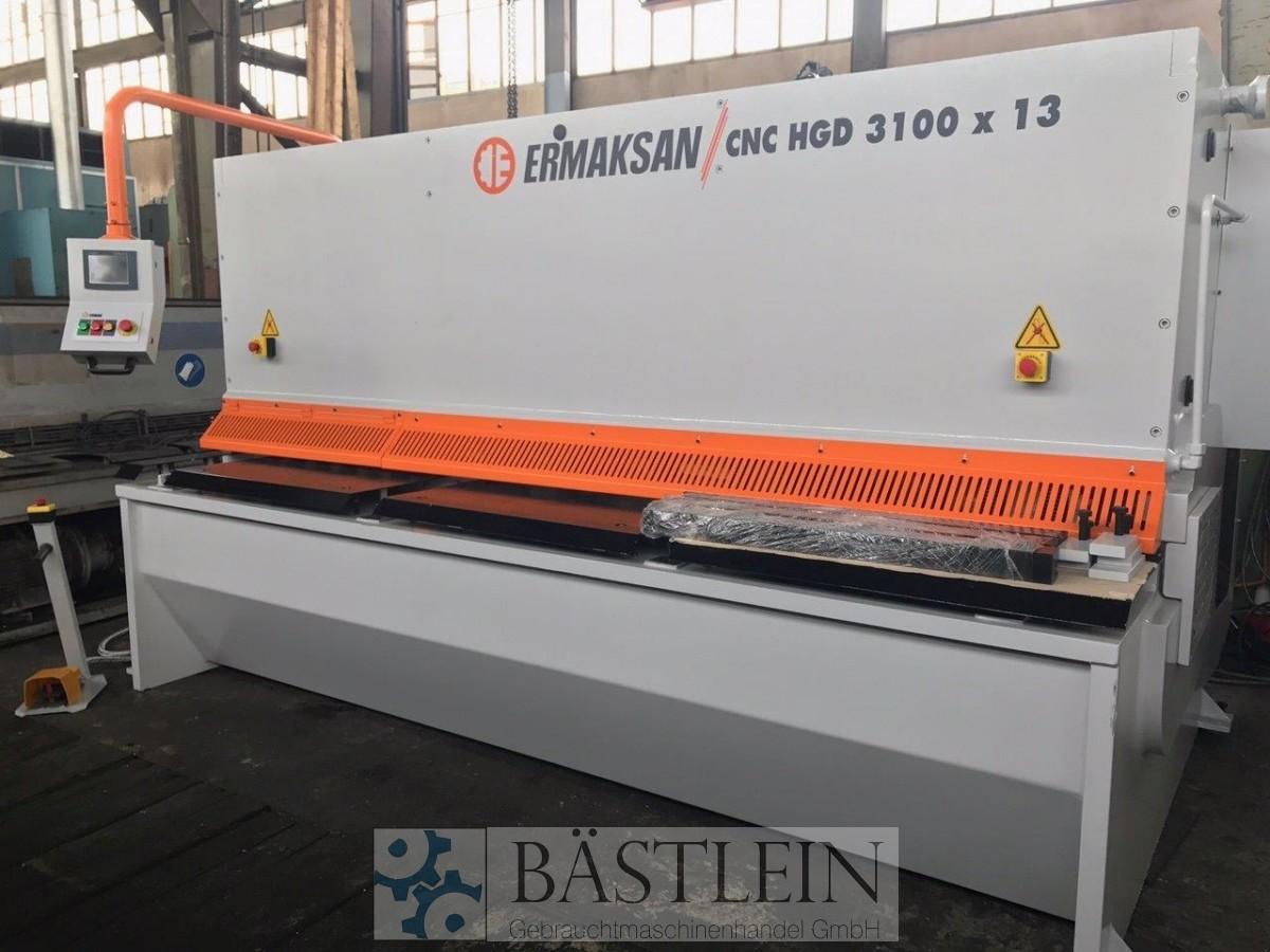 gebrauchte Blechbearbeitung / Scheren / Biegen / Richten Tafelschere - hydraulisch ERMAK CNC HGD 3100x13