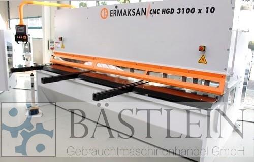 gebrauchte Blechbearbeitung / Scheren / Biegen / Richten Tafelschere - hydraulisch ERMAK CNC HGD 3100x10 HH MONO