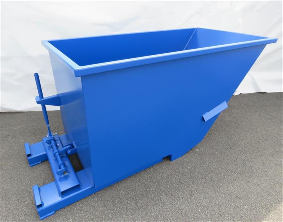gebrauchte Förder- und Lagertechnik Container SANDERS Spänebehälter BLAU RAL 5010