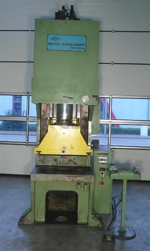 gebrauchte Pressen und Bördelmaschinen Einständerexzenterpresse EDELHOFF HEP 100