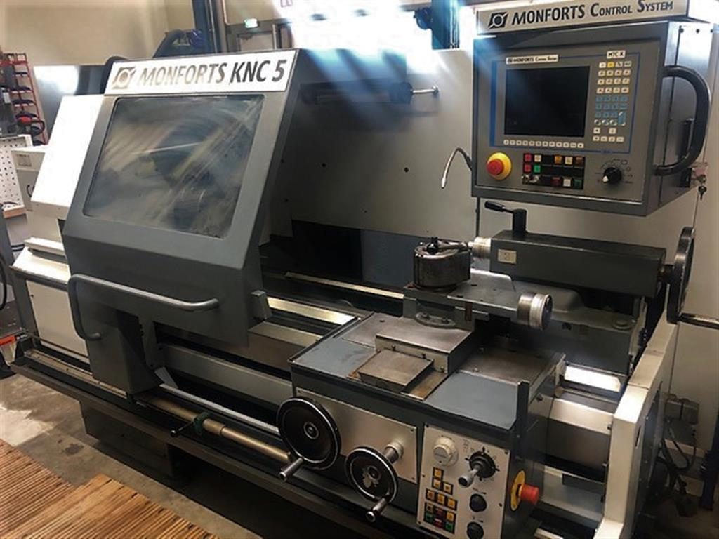 used Lathes Lathe -  cycle-controlled MONFORTS KNC 5 1000