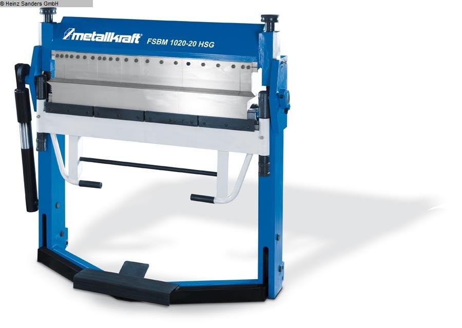 gebrauchte Blechbearbeitung / Scheren / Biegen / Richten Schwenkbiegemaschine METALLKRAFT FSBM 1020-20HSG