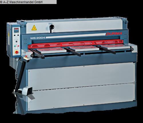gebrauchte Blechbearbeitung / Scheren / Biegen / Richten Mechanische - Tafelschere DURMA MS-2004