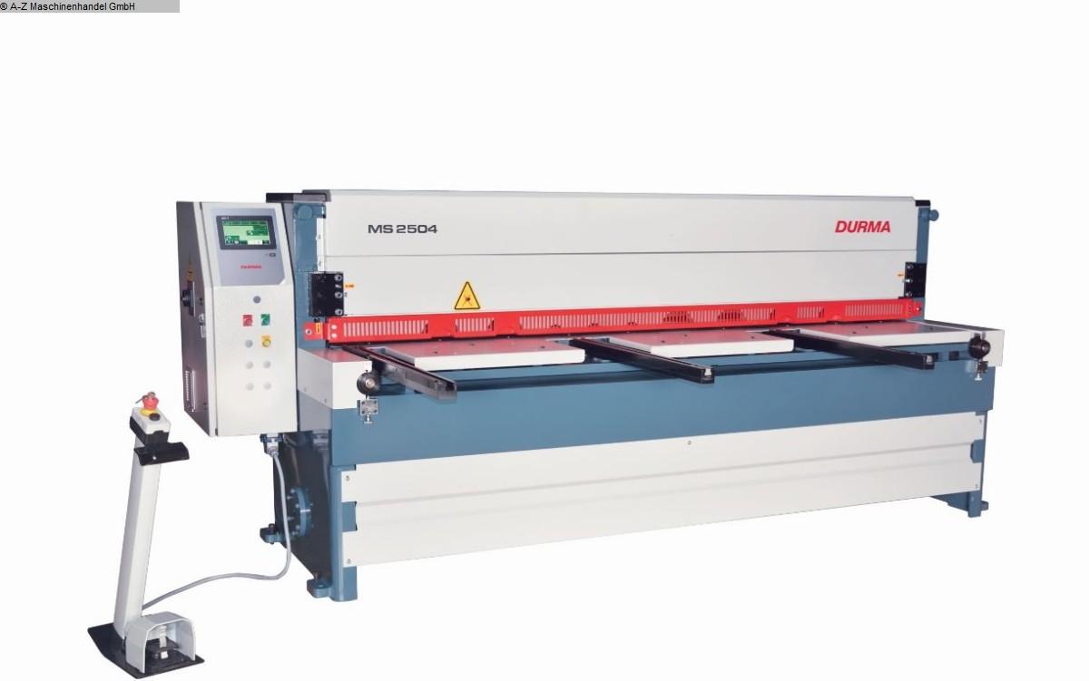 gebrauchte Blechbearbeitung / Scheren / Biegen / Richten Mechanische - Tafelschere DURMA MS-2504