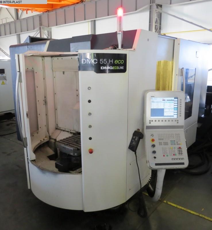gebrauchte Fräsmaschinen Bearbeitungszentrum - Horizontal DMG DMC 55 H Eco