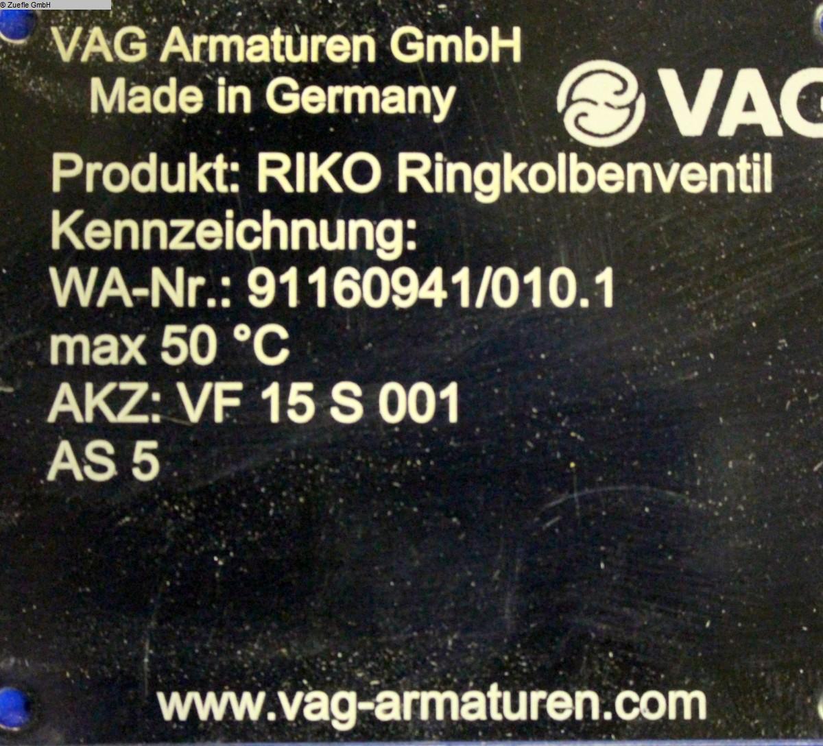 gebrauchte Hydraulikaggregat VAG RIKO DN600 PN10