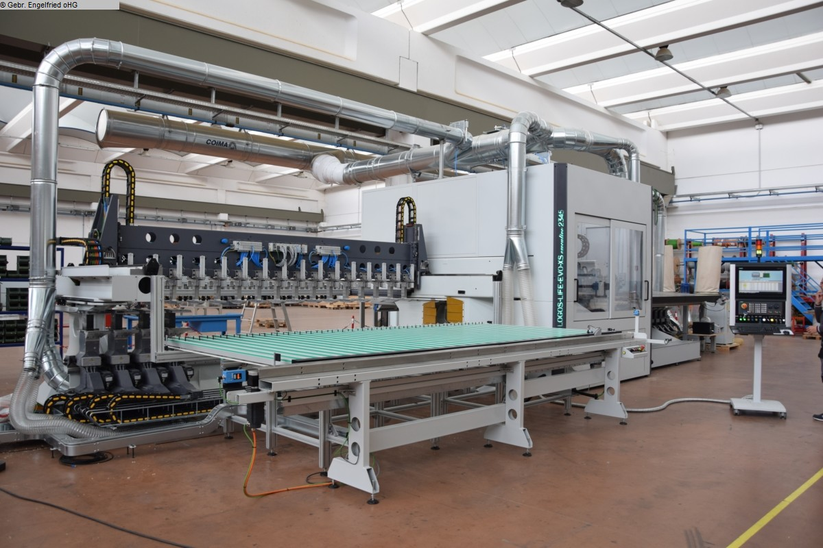 gebrauchte Maschine CNC-Bearbeitungszentrum Fenster u. Türen WORKING PROCESS Logos Life Evo XS Video