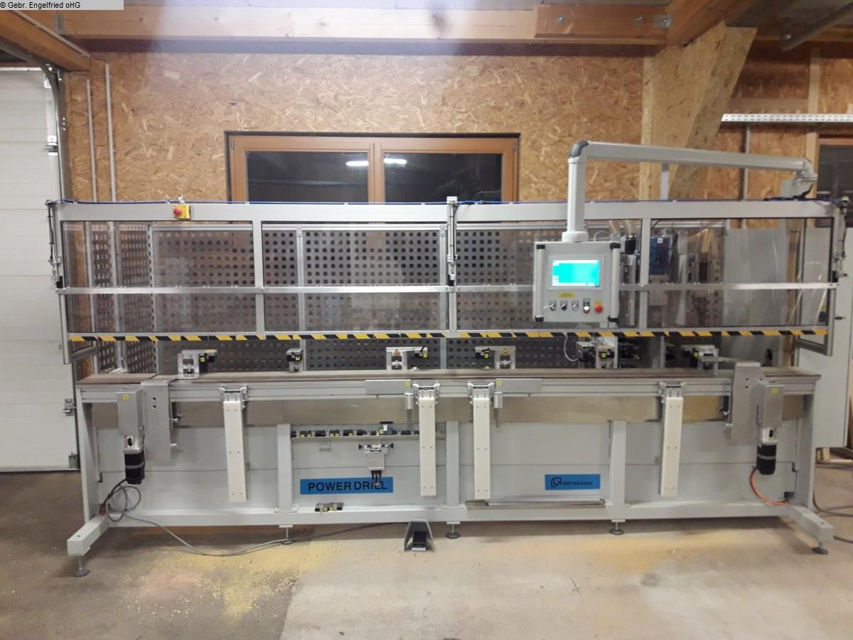 gebrauchte Fensterfertigung: Holz Bohr- und Dübeleintreibmaschine GÖTZINGER PowerDrill Typ BF 315 -Video-