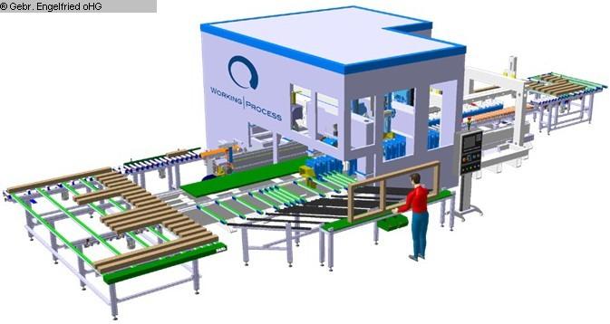 gebrauchte Fensterfertigung: Holz CNC-Bearbeitungszentrum Fenster u. Türen WORKING PROCESS Fensteranlage  -Video-
