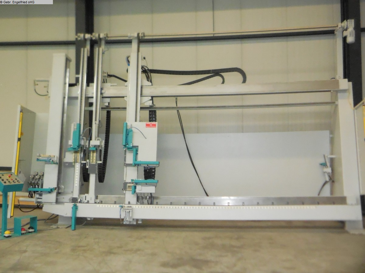 used Window production: wood Frame press SCHAFBERGER + SPROEDHUBER Super - Video -