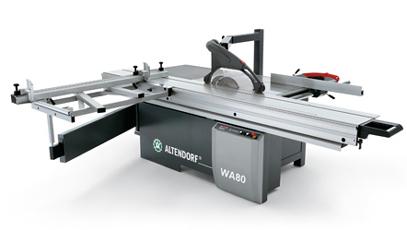 gebrauchte Holzbearbeitungsmaschinen Formatkreissäge ALTENDORF WA 80 TE