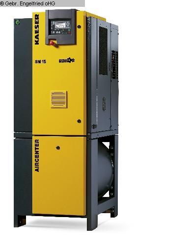 gebrauchte Kompressoren, Druckluft-geräte u. -werkzeuge, Nageltechnik Kompressor KAESER Aircenter SM 15
