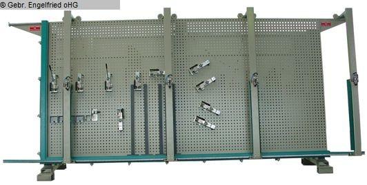 gebrauchte Fensterfertigung: Holz Rahmenpresse SCHAFBERGER + SPROEDHUBER Multipress Lochplattenpresse