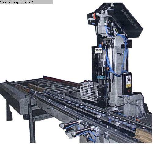 gebrauchte Fensterfertigung: Holz Montagestation RUCHSER Clipsetzen Holz-Alu Durchlauf