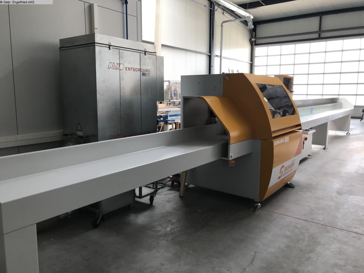 gebrauchte Fensterfertigung: Holz Optimierungskappsäge SALVADOR  Video SuperAngle 600 - Winkelschnitt