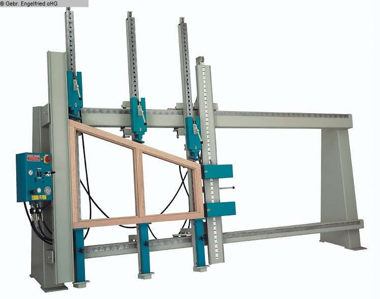 gebrauchte Fensterfertigung: Holz Rahmenpresse S&S T 35