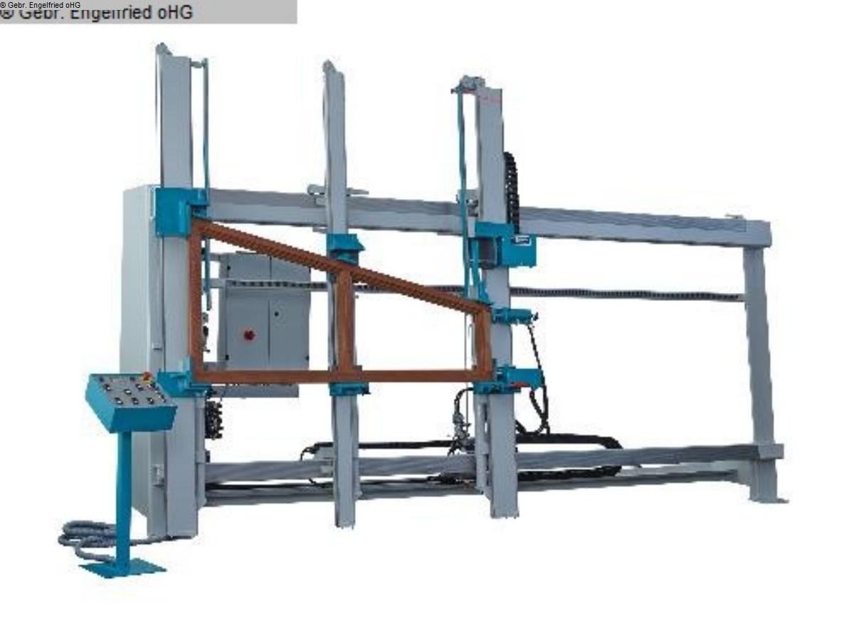 gebrauchte Fensterfertigung: Holz Rahmenpresse S&S Bavaria L 2000 -Video