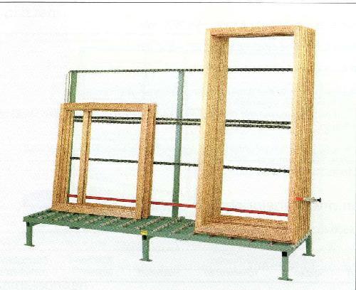 production de fenêtres occasion: convoyeur à rouleaux en bois RUCHSER Rollenbahn