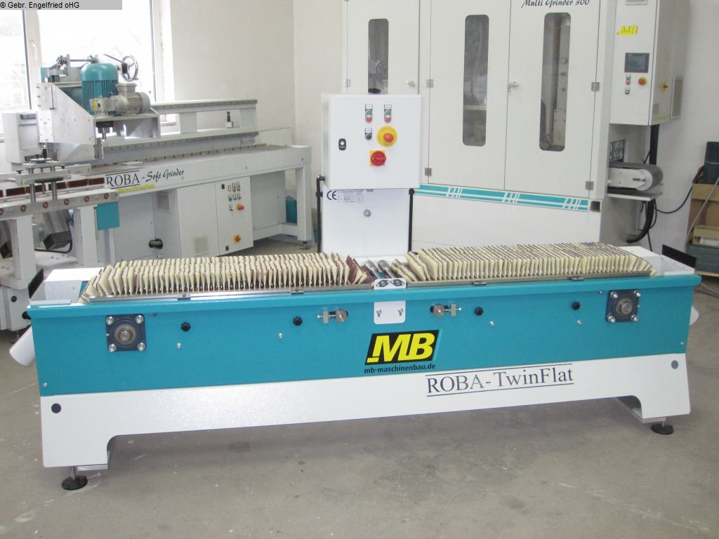 used Window production: wood Sanding machine MB Roba Twin Flat  -Video-