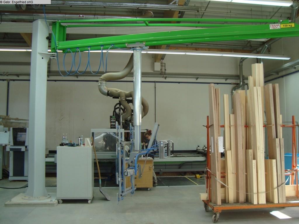 gebrauchte Fensterfertigung: Holz Transportanlage FRAMATECH Leichtschwenkkran mit Lift