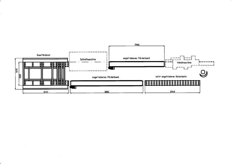gebrauchte Fensterfertigung: Holz Transportanlage HABERKORN RFA