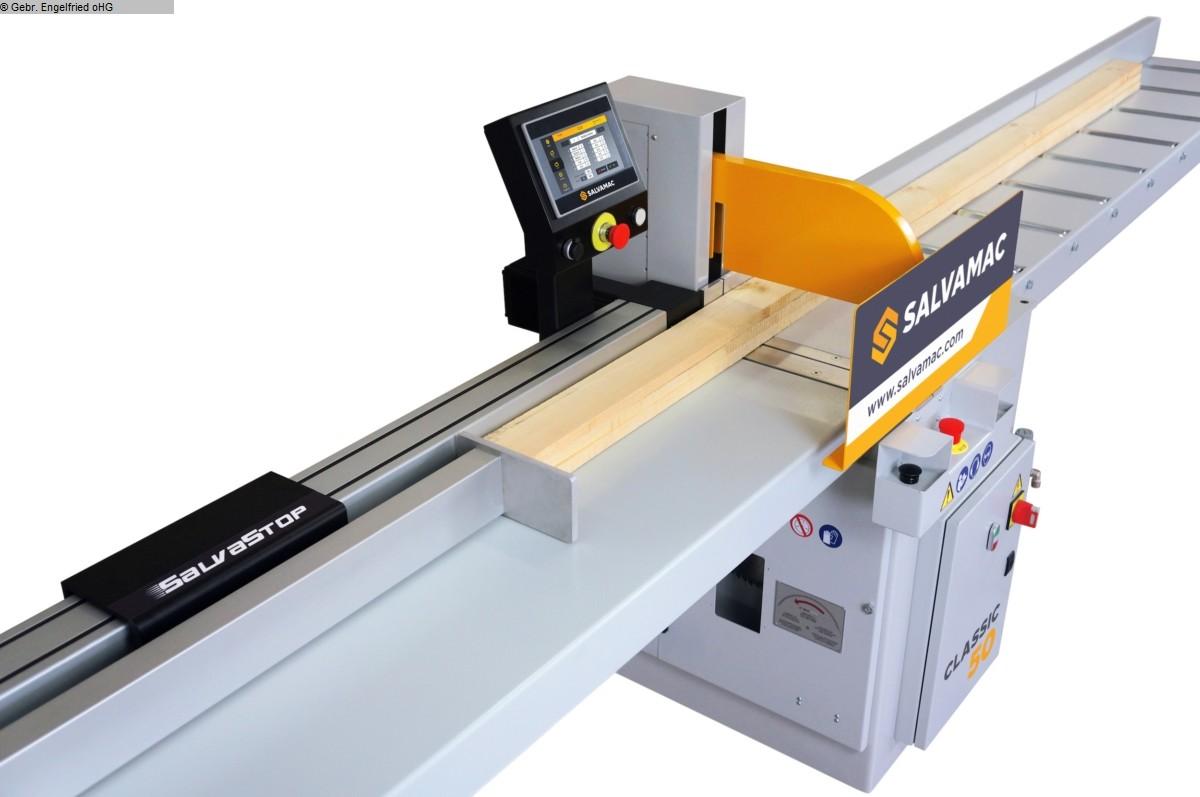 gebrauchte Fensterfertigung: Holz Untertischkappsäge SALVAMAC Salvastop 100 elektr. Anschlag